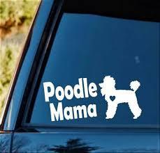 L1029 Labradoodle Mom Labrador Mom Dog Decal Sticker Gift Accessories Poodle Art