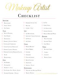 list of things in a makeup kit