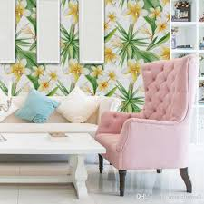 Extra Large Yellow Flowers With Green Leaves Wall Stickers Living Room Sofa Tv Background Decor Wall Decals Home Decoration Wallpaper Wall Stickers Murals Wall Stickers Nursery From Magicforwall 25 12 Dhgate Com