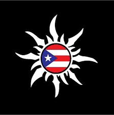 Puerto Rico Rican Car Decal Sticker Sun With Puerto Rican Flag 21 Ebay
