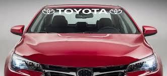 Product Toyota Windshield Racing Sports Vinyl Car Window Decal Sticker Camery Se Ty005