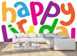 Happy Birthday Card Message Congratulations Party Wall Mural Wallpaper Murals Treenabeena
