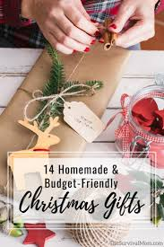 14 Homemade Budget Friendly Christmas Gifts Survival Mom