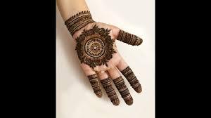 front circle mehndi design