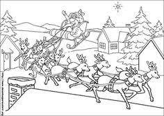 197 Beste Afbeeldingen Van Kleurplaat Kerstman En Rendieren In