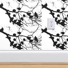 Birds On Branches Wall Decal Spoonflower