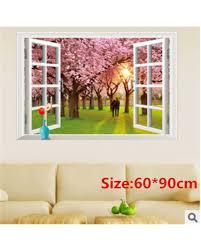 3d Window Multi Style Wall Stickers