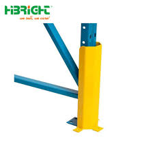 China Industrial Heavy Duty Warehouse Pallet Racking Security Guard Fence Post Corner Protector For Storage Shelf Upright China Pallet Rack Protector Upright Column Guard