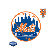 New York Mets Logo Large Officially Licensed Mlb Removable Wall Decal New York Mets Logo New York Mets Mets Baseball