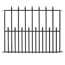 Amazon Com Hampton Bay Empire 30 In X 36 In Black Steel 3 Rail Fence Panel Industrial Scientific