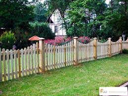 The Finley Scalloped Wood Picket Fence Pictures Per Foot Pricing Wood Picket Fence Backyard Fences Fence Design