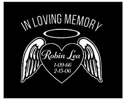 In Loving Memory Car Window Decal Angel Wings Memorial Gift Etsy