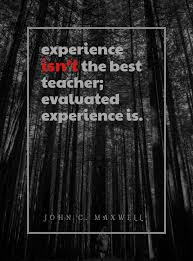 experience isn t the best teacher evaluated experience is