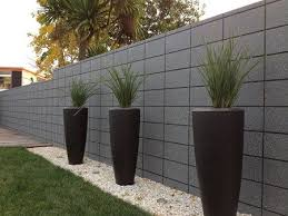 fence wall design concrete block walls
