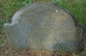 Bradford Burial Ground: Priscilla Griffin (1778) Wife of Ebenezer Griffin  Map Site # 294