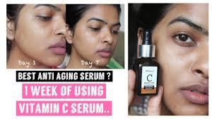 1 week of using vitamin c serum
