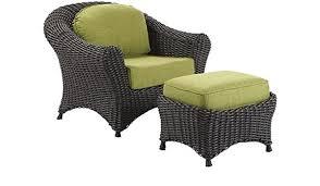 Amazon.com : Martha Stewart Living Lake Adela Charcoal Patio Lounge Chair  and Ottoman Set with Cilantro Cushions : Garden & Outdoor