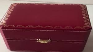 cartier empty jewelry box you