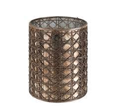tealight holder glass reed brown xl