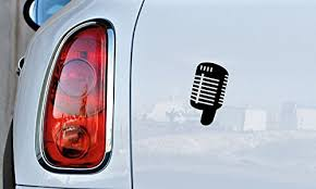Microphone Singing Recording Vocal Car Vinyl Sticker Decal Bumper Sticker For Auto Cars Trucks Windshield Custom