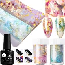 3pcs Set Candy Marble Nail Foils Transfer Foil Gelnail Art Stickers Decals Kit Ebay