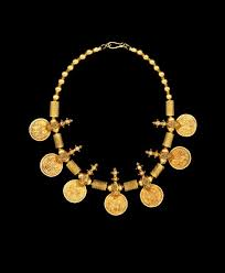india coin necklace 18k gold