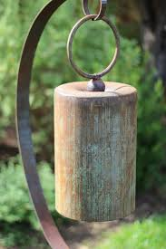 large bell on stand garden art