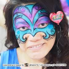 masquerade mask face paint makeup