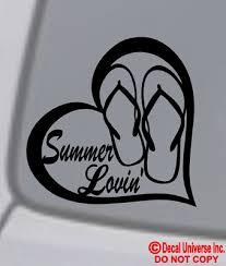 Flip Flop 4 Vinyl Decal Car Window Sticker Bumper Sandals Hawaii Summer V1