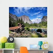 Amazon Com Wallmonkeys El Capitan Yosemite Nation Wall Mural Peel And Stick Graphic 24 In W X 19 In H Wm124635 Furniture Decor