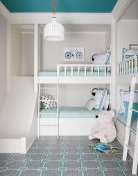 Bunk Beds Built In Slide Childrens Room Kids Blue White Turquoise Ceiling Bedroom Andrew Howard Interior Design Boys Katie Considers