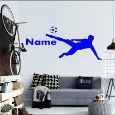 Yoyoyu Boys Room Decals Custom Personalized Name Sports Soccer Wall Stickers Home Decor Mural Vinyl Wall Decals Wall Paper F 122 Vinyl Wall Decals Name Wall Decalswall Decals Aliexpress