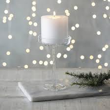 glass pillar candle holder small
