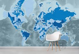 cool blue world map wallpaper world