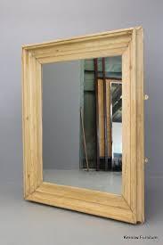 large square pine mirror modern glass