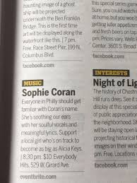 """Sophie Coran on Twitter: """"Thank you so much @PhillyWeekly !!! (Who wrote  this?!) Massive love 🖤… """""""