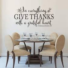Amazon Com In Everything Give Thanks Wall Decal 1 Thessalonians 5 18 Scripture Wall Art Christian Home Decor Custom 27 H X 50 W Furniture Decor