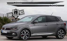 Racing Car Side Stickers Stripes For Vw Polo