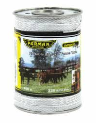 Parmak Electric Fence Tape White 328