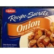 lipton onion soup dip mix calories