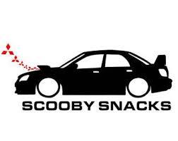 Subaru Wrx Sti Scooby Snacks Sticker Funny Vinyl Decal 8 X 3 Car Truck Subaru Subaru Wrx Sti Funny Vinyl Decals