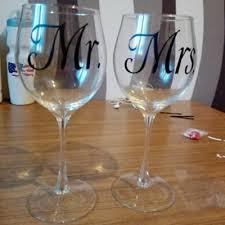Mr Mrs Wine Glass Jar Wedding Decal Stickers Engagement Party Present Decor 1 74 Picclick