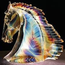 horse head sculpture handmade by andrea