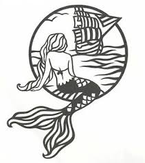 Mermaid Vinyl Decal Sailboat Mermaid Sticker Yeti Tumbler Window Laptop Cup Ebay