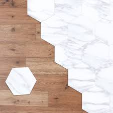 Wrought Studio Marble Hexagon Floor Decal Reviews Wayfair