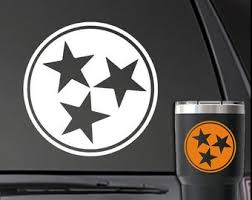Tn Tri Star Decal Etsy