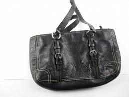 coach black leather purse w br nickel