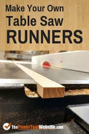 How To Make Table Saw Runners The Power Tool Website