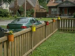 other front yard fence design modern on