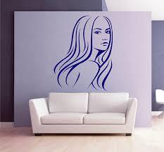 Ik2864 Wall Decal Sticker Beautiful Girl Face Beauty Lounge Stickersforlife